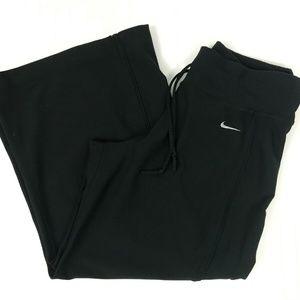 Nike Performance Black Capri Cropped Wide Leg Work